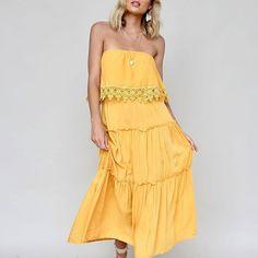 🔥🔥Estella Off Shoulder Dress |$89 #newarrivals 🌻#mustardyellow #dresses #ginghamandheels