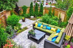 No Grass Backyard, Cozy Backyard, Backyard Landscaping, Backyard Ideas, Patio Ideas, Landscaping Ideas, Small City Garden, Small Space Gardening, Small Back Garden Ideas No Grass