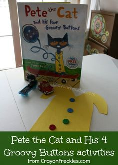 crayonfreckles.com: Pete the Cat and His Four Groovy Buttons activities #preschool #math #patterning
