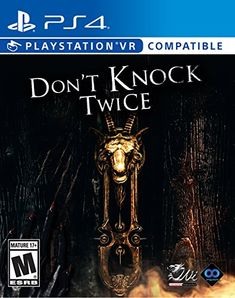 Don't #Knock Twice - #PlayStation #4 Explore all the depths a grand manor house, searching for hidden clues and interact with almost every object you see. To save her estranged daughter, a guilt-ridden mother must uncover the frightening truth behind the urban tale of a vengeful, demonic witch. Juxtaposing a traditional manor environment with modern technology to guide you. https://automotive.boutiquecloset.com/product/dont-knock-twice-playstation-4/