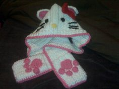 Hello Kitty Crochet Scoodie Free Pattern