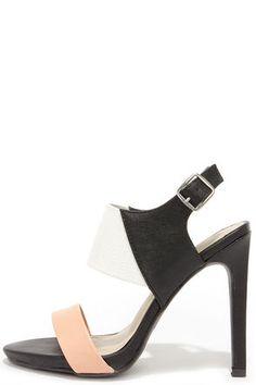 Color block heels: $34