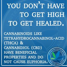 True. If it helps but u cant handle the high or want to give it to a child, CBD is the way to go. I have epilepsy, I know.