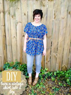 DIY: turn an old skirt into a flowy top! |M Y B I L L I E D E S I G N S