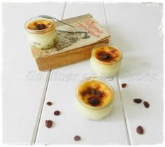 Petites crèmes rhum & raisins