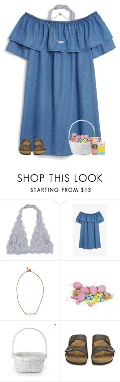 """happy easter! "" by ellienoonan ❤ liked on Polyvore featuring Monki, Lead, Williams-Sonoma, Birkenstock and Casetify"