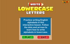 Lowercase Letters Game - Learn to write Lowercase letters
