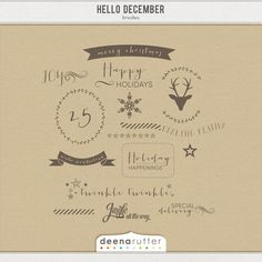 The Hello December Collection is the perfect holiday kit to use for your digital and your hybrid layouts and projects. It has everything you need to document your December memories, also known as December Daily, whether that's in digital format or ...