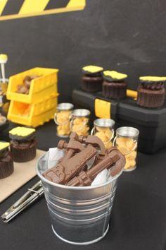 Boys Construction Themed Birthday party Cupcake Food Ideas