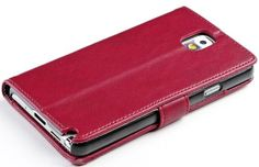 myLife Maroon Red {Soft and Smooth Design} Faux Leather (Card, Cash and ID Holder + Magnetic Closing) Slim Wallet for Galaxy Note 3 Smartpho...