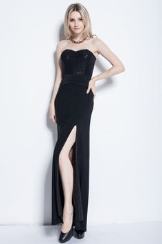 Sheath/Column Sweetheart Sleeveless Floor Length Lace Chiffon Zipper Up - promgoers.com