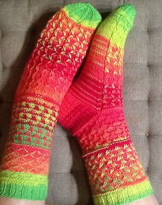 Ravelry: Project Gallery for Mad Mix Socks pattern by Virpi Tarvo
