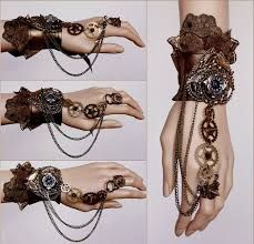 Steampunk -Another spiked gears cuff by Pinkabsinthe. on I would buy a manakin h Steampunk Cosplay, Mode Steampunk, Steampunk Halloween, Steampunk Design, Steampunk Wedding, Steampunk Clothing, Steampunk Fashion, Steampunk Gloves, Gothic Fashion
