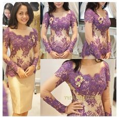 Purpel with gold #kebaya #modern #inspiration #indonesia by vera