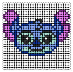 Stitch perler bead pattern   ...........click here to find out more     http://googydog.com