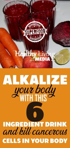Alkalize your body and feel the benefits of this 6 ingredient drink.Kill cancerous cells in your body fast
