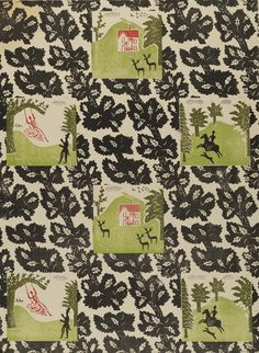 'Knole Park' wallpaper design by Edward Bawden, From Bawden's earlier phase of wallpaper production, initially produced by the Curwen Press and later by Cole & Sons. Textiles, Textile Patterns, Print Patterns, Textile Design, Fabric Design, Parking Design, Motif Floral, Of Wallpaper, Surface Pattern