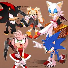 Sonic The Hedgehog, Silver The Hedgehog, Shadow The Hedgehog, Sonic And Amy, Sonic And Shadow, Sonic Project, Cream Sonic, Shadow And Rouge, Sonamy Comic