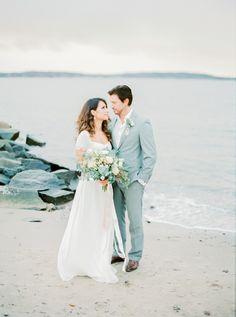 Elegant beach wedding inspiration | Kristina Malmqvist Photography | see more on: http://burnettsboards.com/2015/07/demure-beach-wedding/