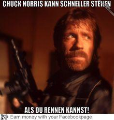 Chuck Norris Kann Schneller...