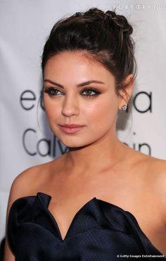 Les tendances maquillage mariage    Pour copier le make up de Mila Kunis, on choisit un fard à paupières taupe et un crayon khôl noir. Côté ...