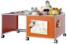 Coffre à jouet et table à dessiner - Chambre d'enfant - USM Haller