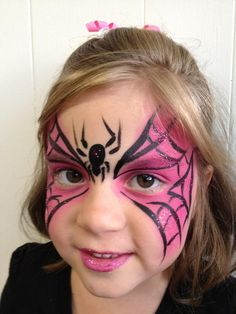 pink spidergirl face paint - Google Search