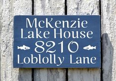 Lake House Decor, Personalized Family Name Signs, Outdoor Street Address Number Plaque Signage Cottage Wood Porch Signs Cabin Decor Art - The Sign Shoppe