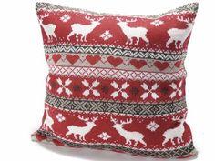Fodera copri cuscino con decorazione natalizia in maglia cm 40 x 40 H Imbottitura esclusa