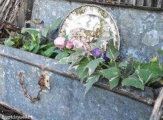 Galvanized tool box planter