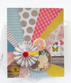 great tutorial: step by step how to turn your scraps into sunbursts by Wendy Sue Anderson for create: