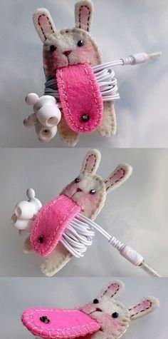 koptelefoon houder {konijn}