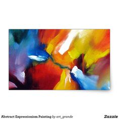 Abstract Expressionism Painting Rectangular Sticker