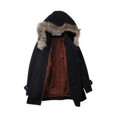 ガリウール : sunaokuwahara | HUMOR ❤ liked on Polyvore featuring outerwear, coats, jackets, tops and humör
