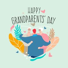 National Grandparents Day, Happy Grandparents Day, Graphic Design Templates, Modern Graphic Design, Holiday Day, Day Wishes, Bedtime Stories, Vector Free, Print Design