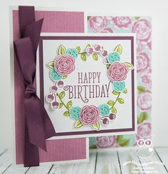 Today I'm sharing one of the cards that I made with the ladies in my technique class last week featuring the Happy Birthday Gorgeous stamp set that is perfect for the current keyword theme over at The Fancy Fold Cards, Folded Cards, Happy Birthday Cards, Birthday Greetings, Christmas Mesh Wreaths, Winter Wreaths, Spring Wreaths, Summer Wreath, Happy Birthday Gorgeous
