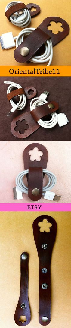 #usb #cable #keeper #iphone #ipod #ipad #leather