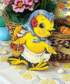 #Easter #duck with blue kerchief
