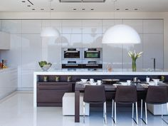 #Sleek and #modern #kitchen in a Beverly Hills home