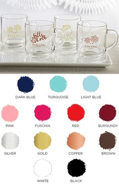 Kate Aspen Personalized 10 oz. Glass Coffee Mug w/ Fall-Themed Designs