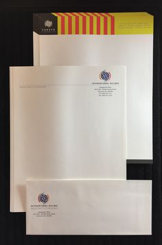 Company stationary with logo printing - notepads, envelopes.  Get quote:  info@cantonproductions.com
