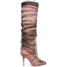 2c1addb00287 Off-White C O Jimmy Choo Elisabeth 100 tulle and satin knee boots (