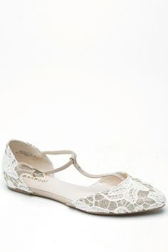 Bamboo Biege Pointed Toe T-Strap Glitter Crochet Flats @ Cicihot Flats Shoes online store:Women's Casual Flats,Sexy Flats,Black Flats,White ...
