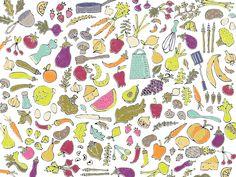 Studio SSS Food Patterns, Kids Rugs, Curtains, Studio, Home Decor, Illustrations, Food, Blinds, Decoration Home