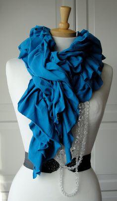 ruffled scarves