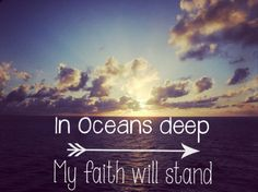 My faith will stand...