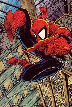 Spider-Man by Todd McFarlane__Arguably the greatest Spider-Man artist ever. McFarlane was the first Spidey artist to ever really draw Spidey in sensational and contorted poses...to reflect his incredible powers of agility in the way he moves.
