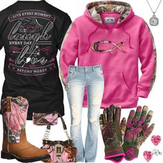 Live Laugh Love Camo Gloves Outfit – Real Country Ladies