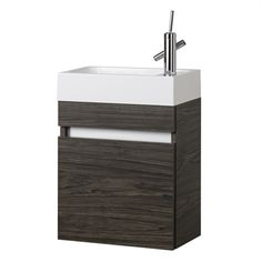 Cutler 18 In X 10 In Brown Integral Single Sink Bathroom Vanity With  Cultured