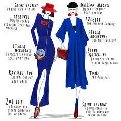 Gina & Amelie #collage #drawing #drawingoftheday #fashion #fashionillustration #elenaghisellini #maisonmichel #rachelzoe #saintlaurent #stellamccartney #tome #tuleste #yazbukey #zoelee